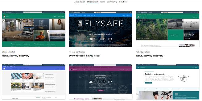 SharePointモダンサイトを色々なテンプレートから作成